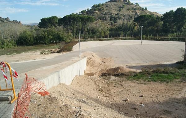 Preparativos para la inauguración del área de autocaravanas en Albalate