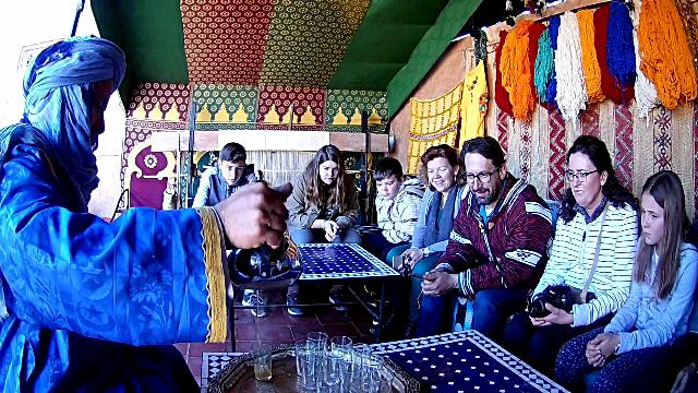 Ouarzazate, té con menta marroquí